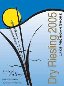 Wine:Fenn Valley Vineyards 2005 Dry Riesling  (Lake Michigan Shore)