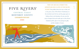 Wine:Five Rivers Winery 2005 Chardonnay  (Monterey County)