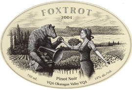 Wine:Foxtrot Vineyards 2004 Pinot Noir  (Okanagan Valley)