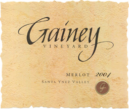 Gainey Vineyard 2004 Merlot, Estate (Santa Ynez Valley)