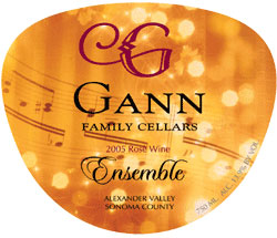 Gann Family Cellars 2005 Ensemble Rose, Estate (Alexander Valley)