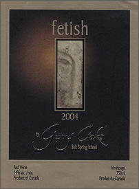 Garry Oaks Winery 2004 Fetish, Diamond Back Vineyard (Okanagan Valley)