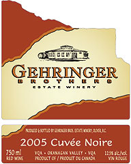 Gehringer Brothers Estate Winery 2005 Cuvée Noire  (Okanagan Valley)