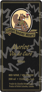 Golden Beaver Winery 2006 Merlot Vin de Curé  (Okanagan Valley)