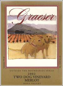 Wine:Graeser Winery 2002 Merlot, Two Dog Vineyard (Napa Valley)