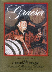 Wine:Graeser Winery 2003 Cabernet Franc, Estate (Diamond Mountain District)
