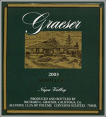 Wine:Graeser Winery 2003 Semillon  (Napa Valley)