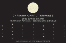 Chateau Grand Traverse 2002 Blanc de Blancs Extra Brut, Estate  (Old Mission Peninsula)