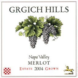Grgich Hills Cellar 2004 Merlot  (Napa Valley)