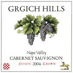 Grgich Hills Cellar 2004 Cabernet Sauvignon, Estate (Napa Valley)