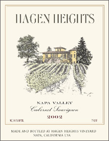 Wine: Hagen Heights Vineyard 2002 Cabernet Sauvignon  (Napa Valley)