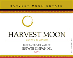 Wine: Harvest Moon Estate & Winery 2003 Zinfandel, Pitts Home Ranch (Russian River Valley)