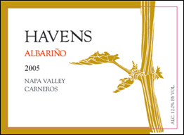 Havens Wine Cellars 2005 Albariño  (Carneros ~ Los Carneros)