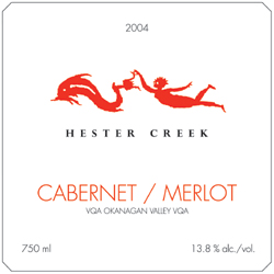 Wine:Hester Creek Estate Winery 2004 Cabernet/Merlot  (Okanagan Valley)