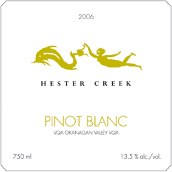 Wine:Hester Creek Estate Winery 2006 Pinot Blanc, Estate (Okanagan Valley)
