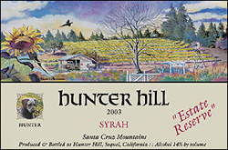 Wine:Hunter Hill Vineyard & Winery 2003 Syrah, Estate Reserve (Santa Cruz Mountains)