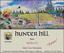Wine: Hunter Hill Vineyard & Winery 2003 Merlot, Estate (Santa Cruz Mountains)