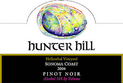 Hunter Hill Vineyard & Winery 2004 Pinot Noir, Hellenthal Vineyard (Sonoma Coast)