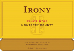 Delicato Family Vineyards 2005 Irony Pinot Noir  (Monterey)