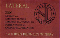 Kathryn Kennedy Winery 2003 Lateral (Bordeaux Blend)  (California)