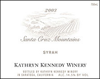 Kathryn Kennedy Winery 2003 Syrah  (Santa Cruz Mountains)