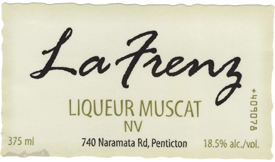 Wine:La Frenz Winery NV Liqueur Muscat  (Okanagan Valley)