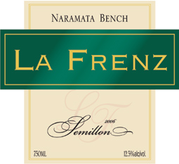 Wine:La Frenz Winery 2006 Semillon  (Okanagan Valley)