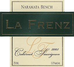 La Frenz Winery 2005 Cabernet Sauvignon  (Okanagan Valley)
