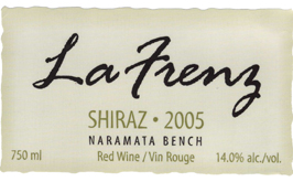 La Frenz Winery 2005 Shiraz  (Okanagan Valley)