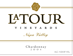 LaTour Vineyards 2004 Chardonnay