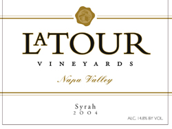 LaTour Vineyards 2004 Syrah  (Mount Veeder)