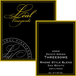 Wine:Leal Estate Vineyards 2004