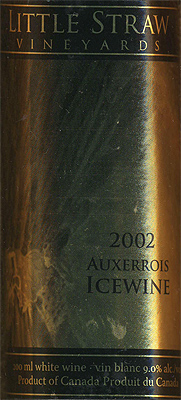 Little Straw Vineyards 2002 Auxerrois Icewine , Slamka Family Vineyard (Okanagan Valley)