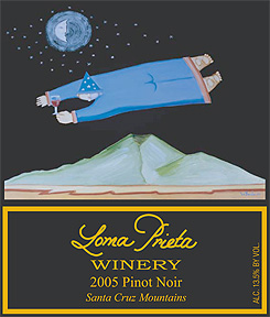 Loma Prieta Winery 2005 Pinot Noir, Saveria Vineyard (Santa Cruz Mountains)