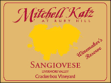 Mitchell Katz Sangiovese Crackerbox Vineyards