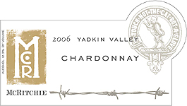 McRitchie Vineyards 2006 Chardonnay (unoaked)  (Yadkin Valley)