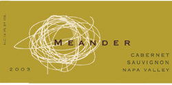 Wine: Meander Cellars 2003 Cabernet Sauvignon  (Napa Valley)