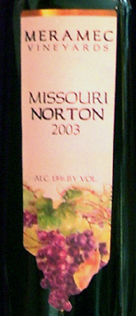 Meramec Vineyards 2003 Norton  (Missouri)