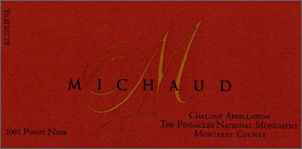 Wine:Michaud Vineyard and Winery 2003 Pinot Noir, Estate (Chalone)