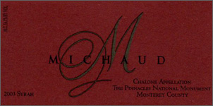 Michaud Vineyard and Winery 2003 Syrah, Estate (Chalone)