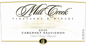 Mill Creek Vineyards and Winery 2001 Cabernet Sauvignon, Kreck Family Vineyards (Sonoma County)