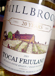 Millbrook Vineyards Tocai Friulano