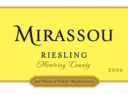 Mirassou Vineyards 2006 Riesling  (Monterey County)