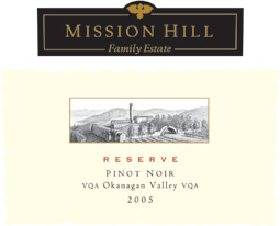 Mission Hill Winery 2005 Reserve Pinot Noir  (Okanagan Valley)