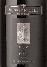 Mission Hill Winery 2003 S.L.C. Syrah  (Okanagan Valley)