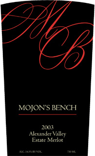 Mojon's Bench 2003 Merlot, Estate (Alexander Valley)