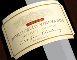 Wine:Monticello Vineyards|Corley Family Napa Valley 2005 Chardonnay, Estate (Oak Knoll District of Napa Valley)