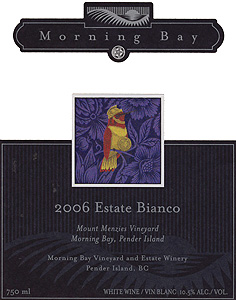 Morning Bay Vineyard & Estate Winery 2006 Estate Bianco, Mount Menzies (Gulf Islands)
