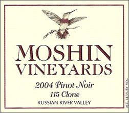 Moshin Vineyards 2004 Pinot Noir, 115 Clone (Russian River Valley)