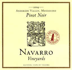 Wine:Navarro Vineyards 2004 Pinot Noir